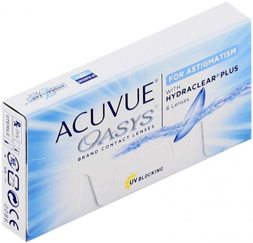 ACUVUE OASYS FOR ASTIGMATISM WITH HYDRACLEAR PLUS (6 шт.)