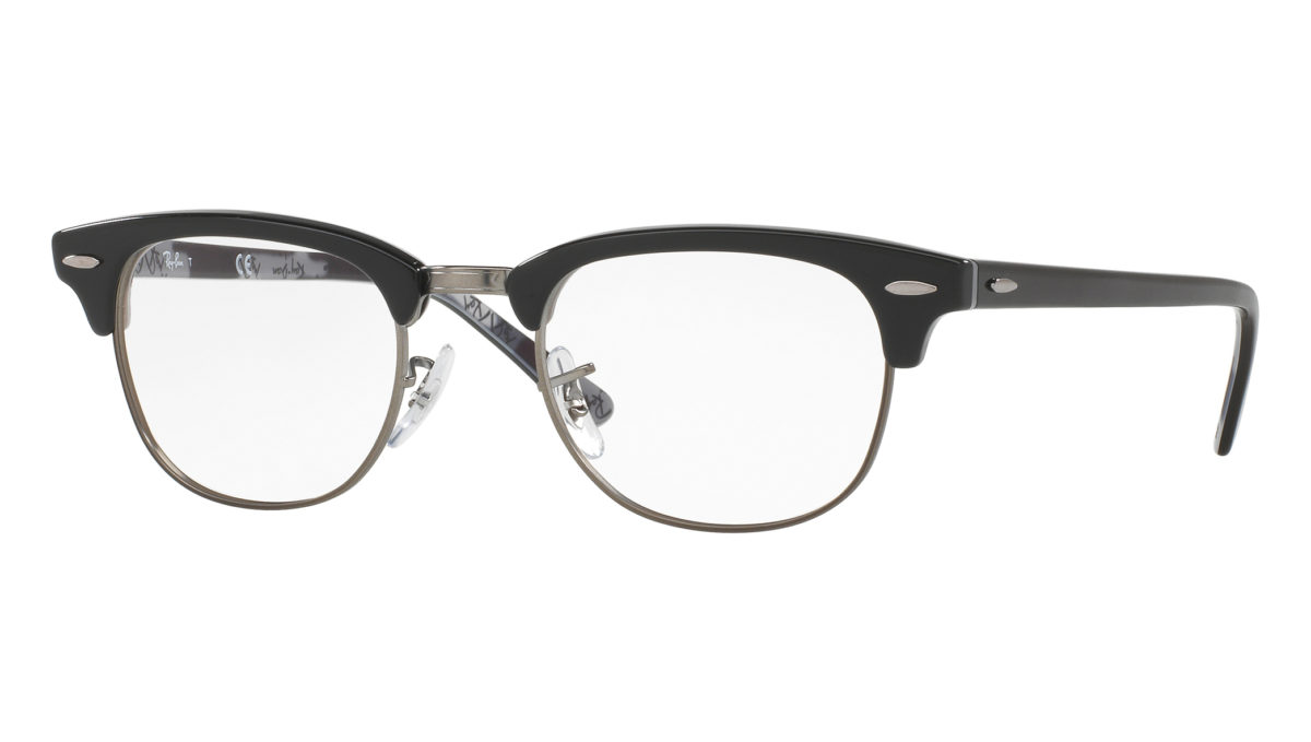 CLUBMASTER RB5154 - Black on texture camouflage