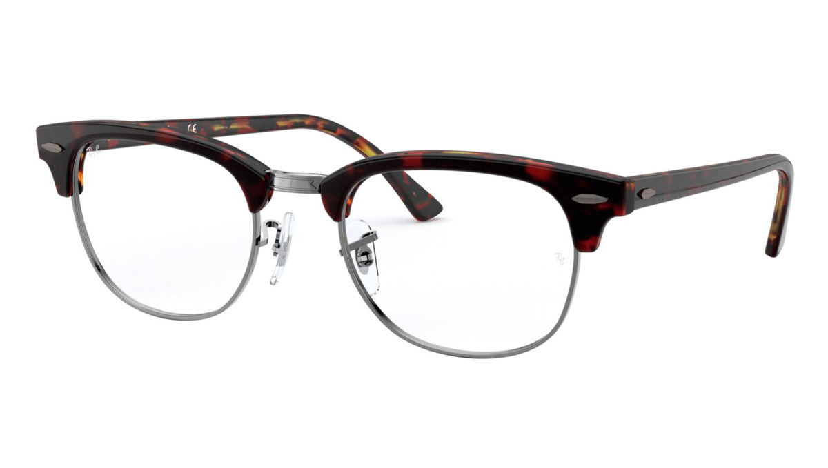 CLUBMASTER RB5154 - Top transparent red on