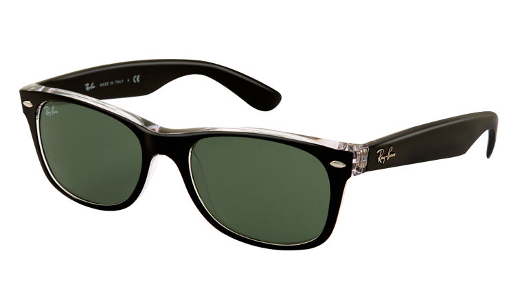 NEW WAYFARER RB2132 - top black on transparent