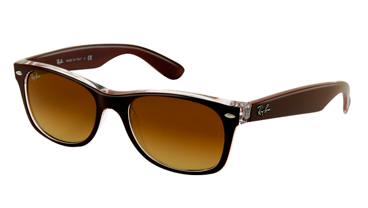 NEW WAYFARER RB2132 - top matte bordò on trasparent