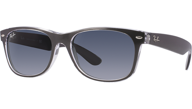 NEW WAYFARER RB2132 - top brushed gunmetal on trasparent