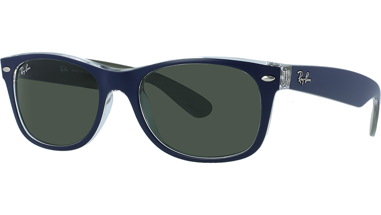 NEW WAYFARER RB2132 - matte blue/military green