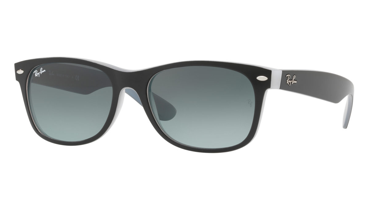 NEW WAYFARER RB2132 - Matte black on opal ice