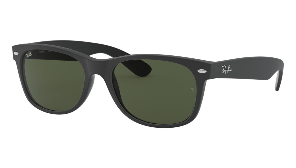 NEW WAYFARER RB2132 - Top rubber black on shiny black