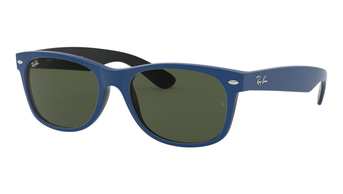 NEW WAYFARER RB2132 - Top rubber blue on shiny black
