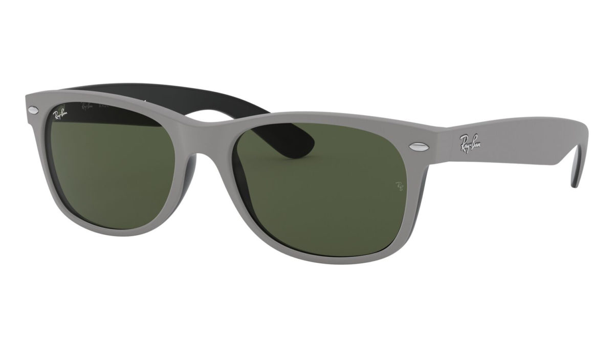 NEW WAYFARER RB2132 - Top rubber grey on shiny black