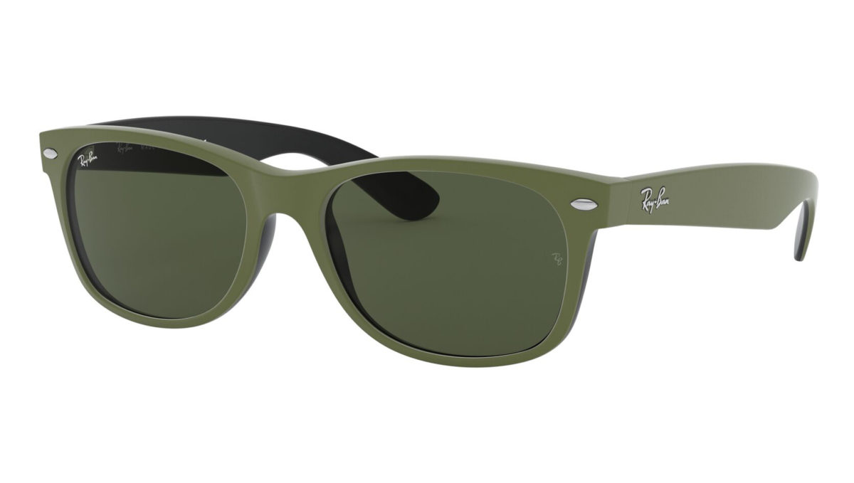 NEW WAYFARER RB2132 - Top rubber military green on shiny black