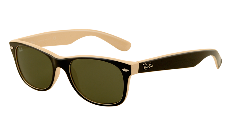 NEW WAYFARER RB2132 - top black on beige