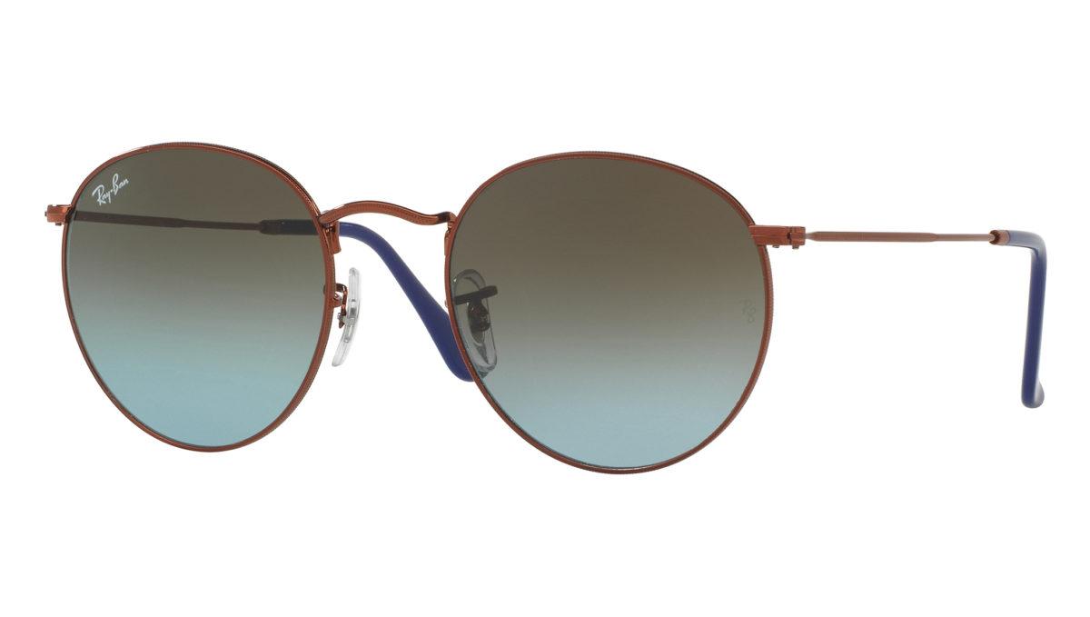 ROUND METAL RB3447 - blue gradient brown 9003/96